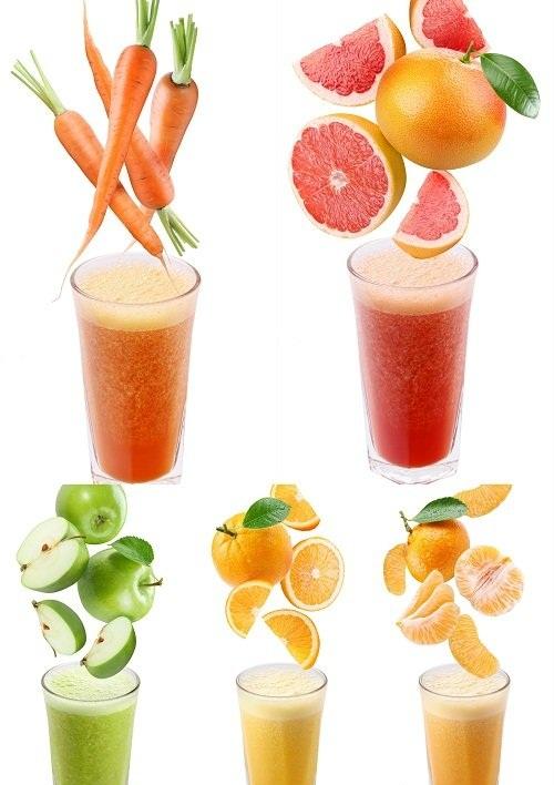 دانلود تصاویر استوک انواع مختلف آب میوه در لیوان Fresh Juice