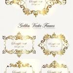 دانلود وکتور کادر و حاشیه های طلایی شماره 2