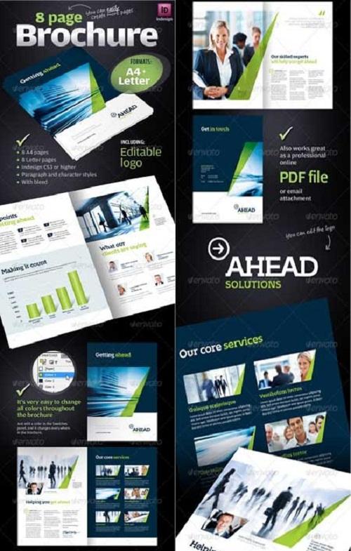 دانلود بروشور 8 صفحه ای آماده ایندیزاین Business Brochure