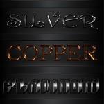 دانلود 5 استایل یا افکت متن فلز برای فتوشاپ Metal styles