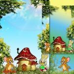 دانلود قاب عکس لایه باز کودکانه کارتونی برای فتوشاپ