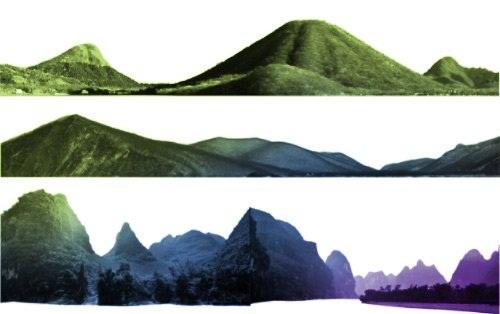 دانلود براش زیبای ساخت کوه و کوهستان برای فتوشاپ