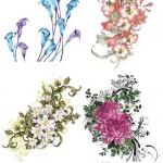 دانلود تصاویر لایه باز PSD گل های بهاری