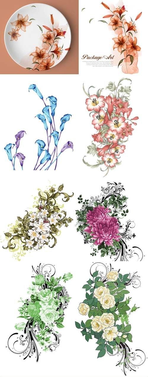 دانلود تصاویر لایه باز PSD گل های بهاری New Collection of Spring Flowers