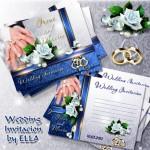دانلود 2 طرح لایه باز PSD کارت دعوت زیبا برای عروسی
