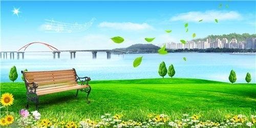 دانلود طرح لایه باز PSD فتوشاپ با نام میزی در کنار رودخانه