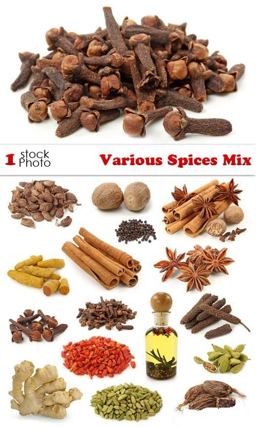 دانلود تصاویر استوک انواع مختلف ادویه Various Spices