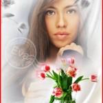 دانلود قاب عکس و کم حجم زیبا برای خانم ها طراحی شده با گل
