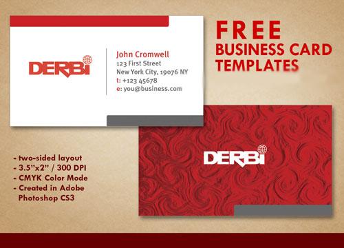 دانلود طرح لایه باز PSD کارت ویزیت شماره 28 Red Business Card