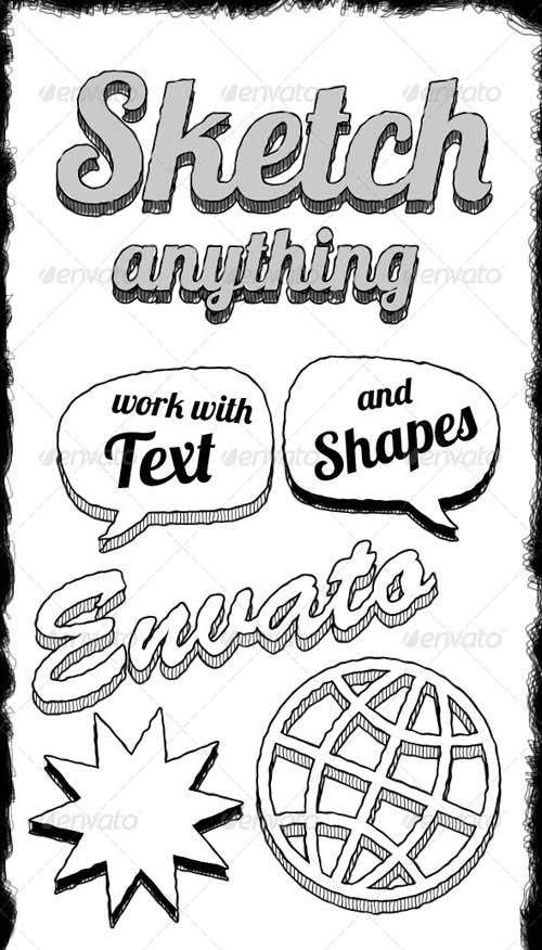 دانلود پکیج مخصوص تبدیل هرچیزی به نقاشی و طراحی ساده در فتوشاپ