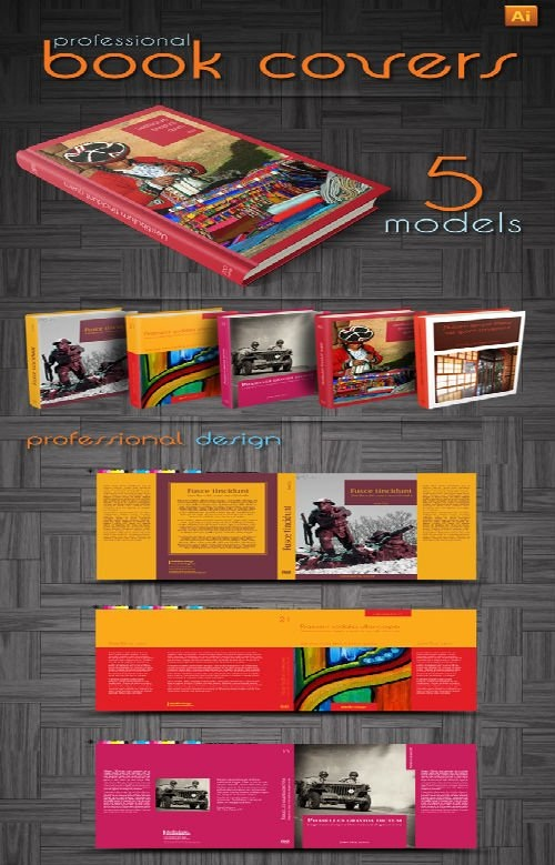 دانلود 5 طرح آماده جلد کتاب برای ایندیزاین