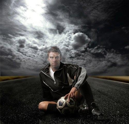 دانلود تمپلت آماده عکس فوتبالیست برای آقایان