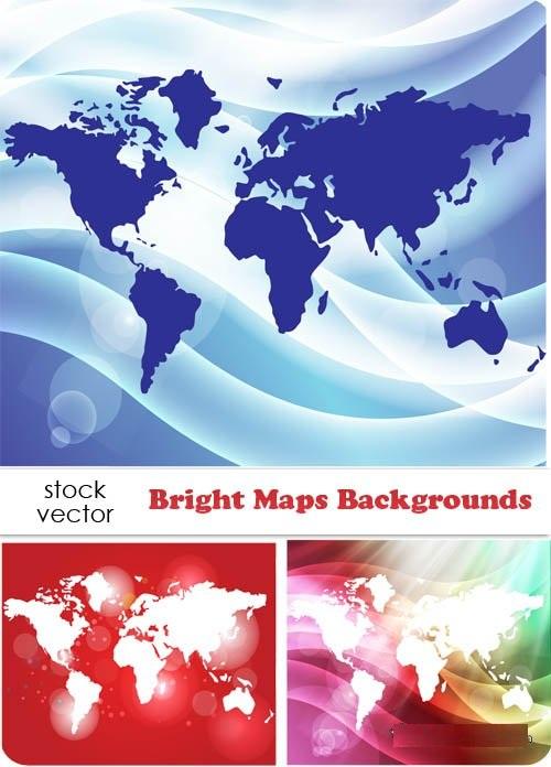 دانلود تصاویر وکتور زیبا ازنقشه جهان Vectors Maps Backgrounds