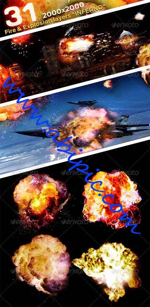 دانلود 31 طرح لایه باز PSD برای مدل شبیه سازی و طراحی انفجار