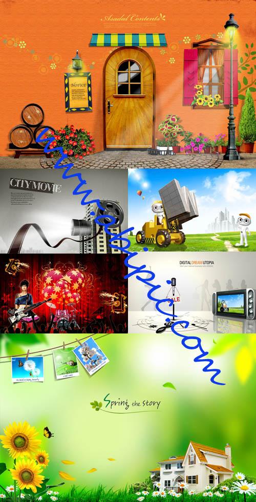 دانلود سری 2 از بهترین مجموعه طرح های لایه باز PSD سال ۲۰۱۲