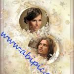 دانلود فریم قاب عکس لایه باز زیبا مخصوص عکس عروسی
