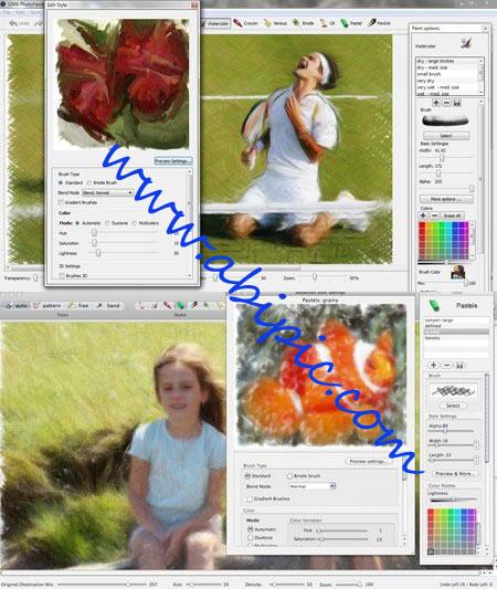 پلاگین تبدیل عکس به نقاشی GMX PhotoPainter 2.0.624