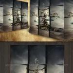 دانلود 7 طرح لایه باز برای ساخت مکعب های 3 بعدی از عکس