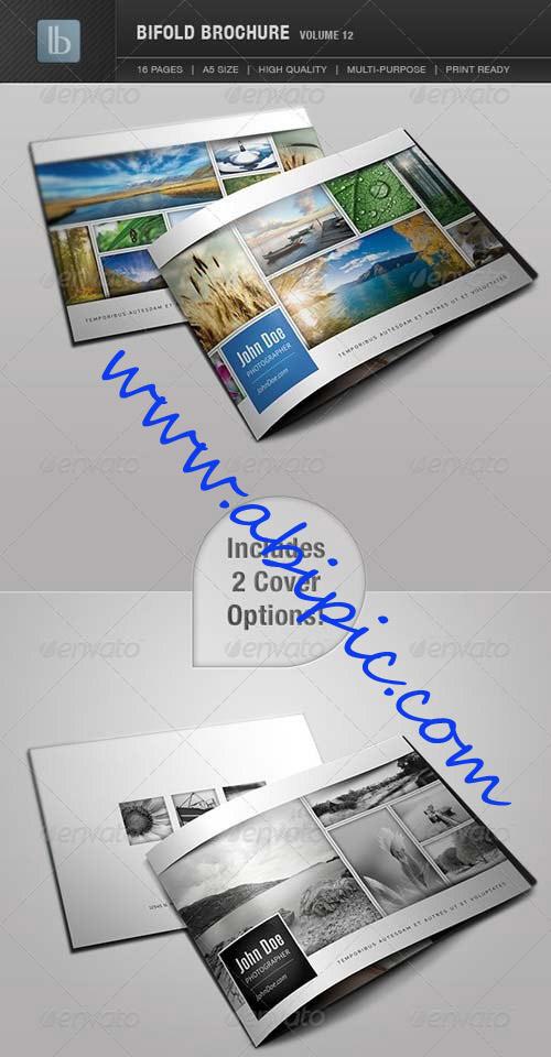 دانلود طرح لایه باز بروشور 2 لت GraphicRiver Bifold Brochure