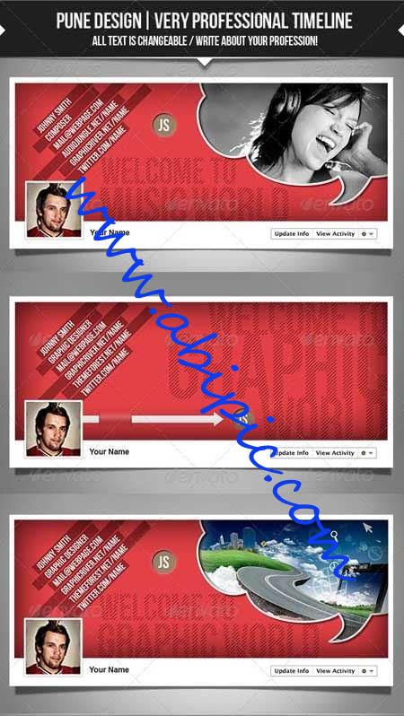 دانلود کاورهای لایه باز و حرفه ای برای تایم لاین فیس بوک شماره 2