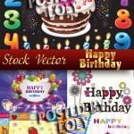 دانلود تصاویر وکتور مربوط به جشن تولد Happy Birthday Stock Vector