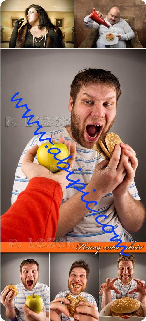 دانلود تصاویر استوک پرخوری و چاقی Heavy eater photo