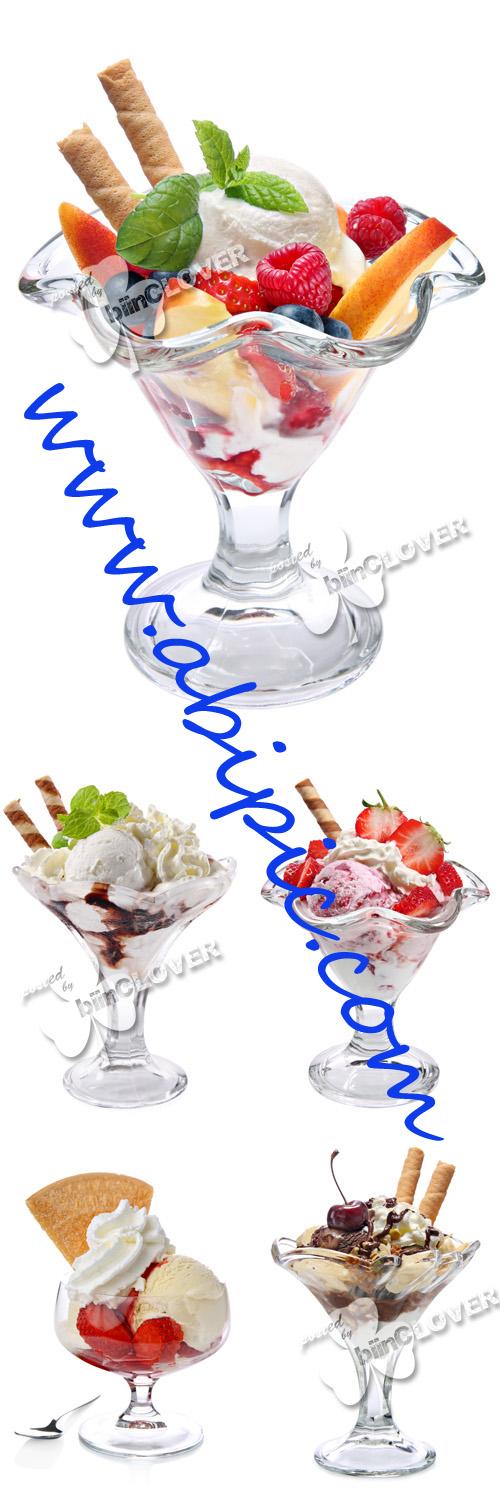 دانلود تصاویر استوک بستنی در لیوان Ice cream in glass