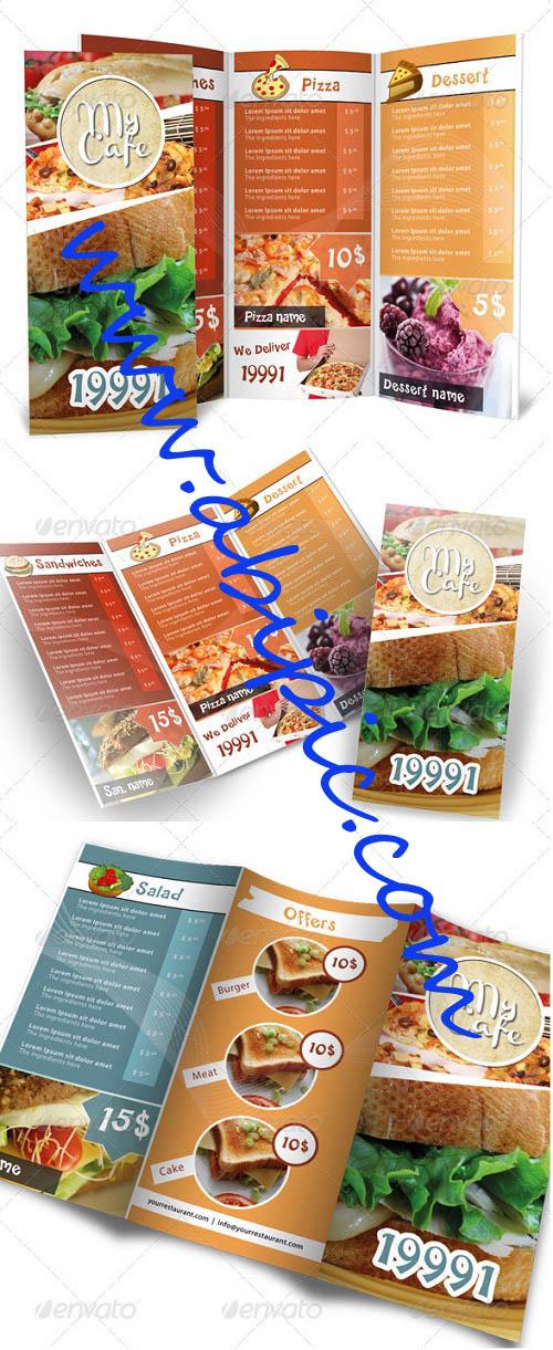دانلود طرح لایه باز PSD فوق العاده زیبا منو مدرن برای رستوران ها