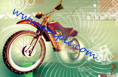 دانلود طرح لایه باز موتورسیکلت Motorcycle Template PSD