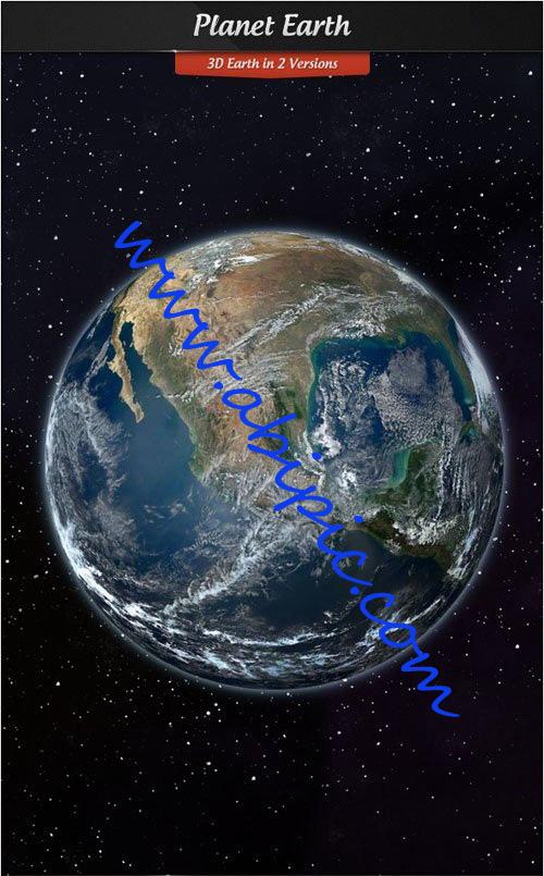 دانلود طرح لایه باز 3 بعدی سیاره زمین از فضا PSD Template Planet Earth