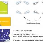 دانلود طرح لایه باز PSD گوشه های تا شده برای صفحات چهارگوش