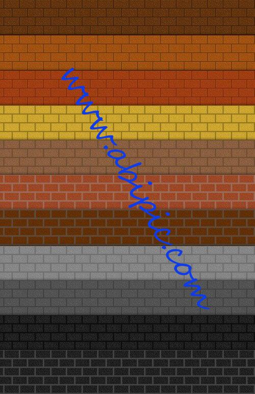 دانلود پترن یا الگوی آجری برای فتوشاپ Patterns Realistic Brick