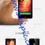دانلود کارت ویزیت لایه باز با طرح تلفن همراه هوشمند