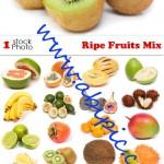 دانلود تصاویر استوک میوه Photo – Ripe Fruits Mix شماره 2