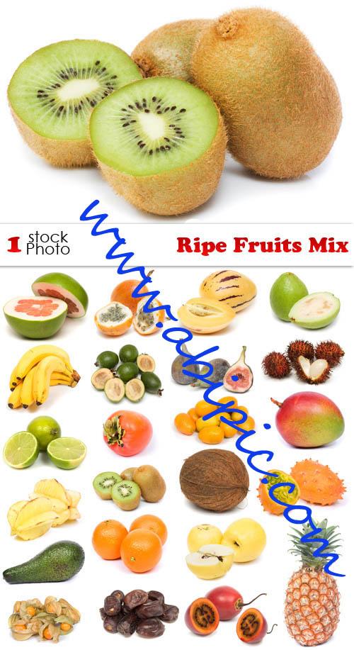 دانلود تصاویر استوک میوه Photo - Ripe Fruits Mix شماره 2