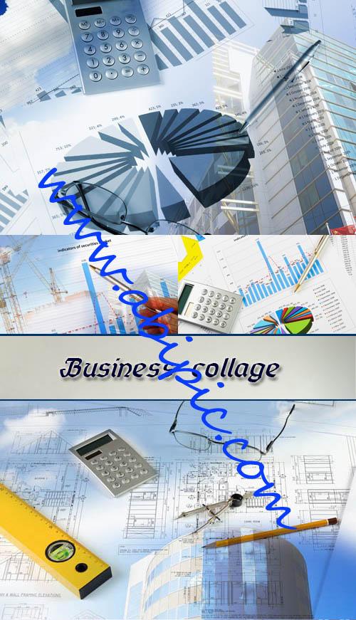 دانلود تصاویر استوک نمودارها و طرح های اداری Stock Photo Business collage