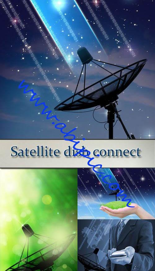 دانلود تصاویر استوک آنتن و دیش ماهواره Stock Photo Satellite dish