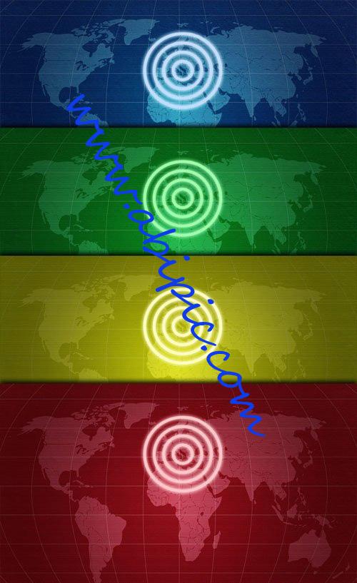 دانلود تکسچرهای لایه باز PSD با طرح نقشه جهان بصورت رادار