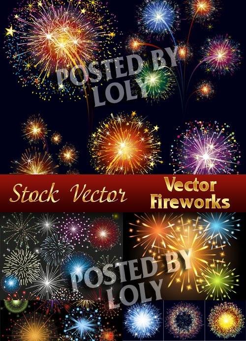 دانلود تصاویر وکتور آتش بازی Vector Fireworks