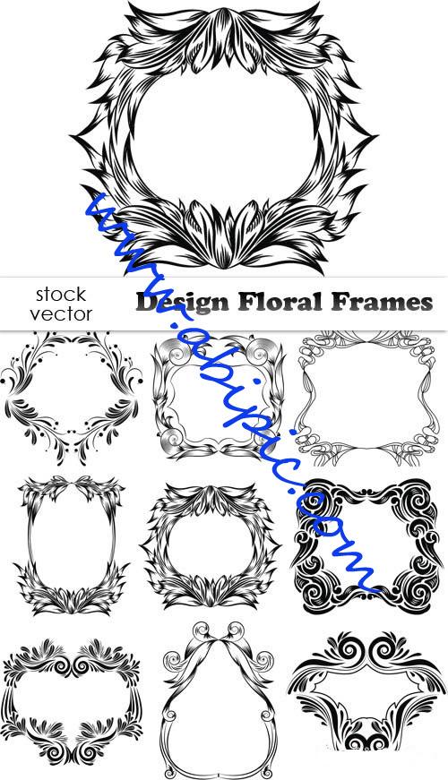 دانلود وکتور کادر و فریم های زیبای گلدار Vectors - Design Floral Frames