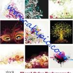 دانلود وکتورهای بکگراند با طرح گلدار Vectors Floral Backgrounds