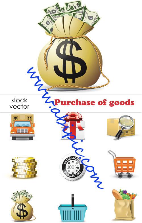دانلود طرح وکتور خرید کالا Vectors Purchase of goods