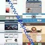 دانلود مجموعه 8 قالب لایه باز سایت Web Templates Psd Pack