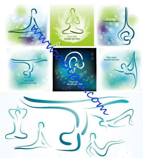 دانلود تصاویروکتور با طرح یوگا Yoga background