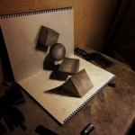 تصاویری از نقاشی های به ظاهر سه بعدی بسیار زیبا