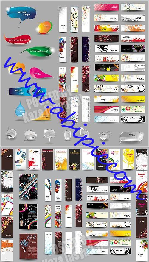 دانلود طرح وکتور بنر شماره 10 Abstract banners