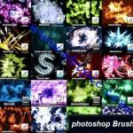 دانلود مجموعه 20 براش برتر آبسترکت فتوشاپ set of 20 abstract brushes