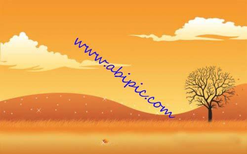 دانلود طرح لایه باز PSD منظره پاییزی Autumn Scene in Photoshop