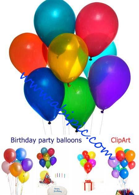 دانلود تصاویر استوک بادکنک Birthday party balloons