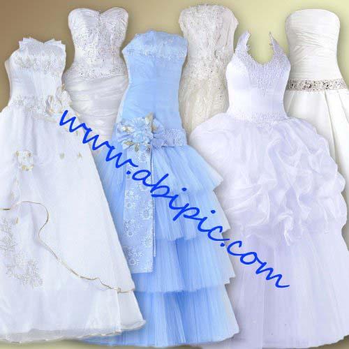 دانلود تصاویر لایه باز PSD لباس و تور عروسی Photoshop Wedding Dresses